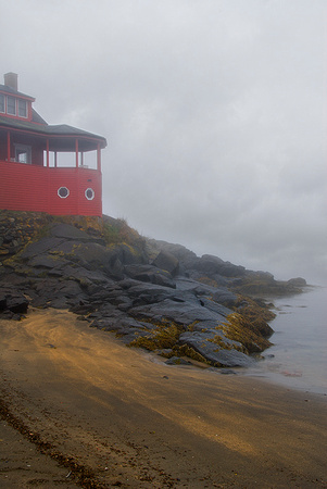 Monhegan Island on a foggy day